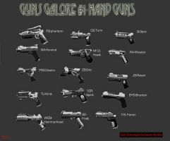 GunsGalore1-Handguns by Destructiconz