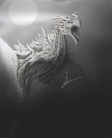 Cold light, sketch by Aphilien