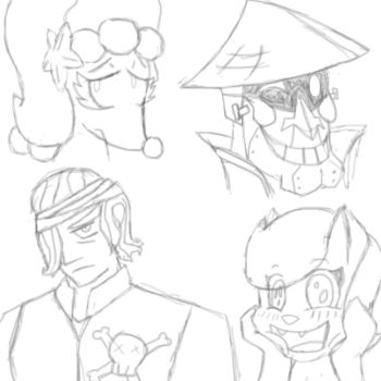 Random Character Sketch Dump by Screenshot-Saga