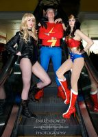 Black Canary, Wonder Woman and The Flash by Athora-x