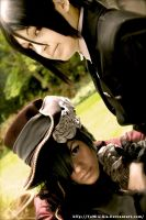 Ciel and Sebasian's face by ShadowFox-Cosplay
