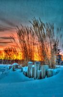 Winter Sunset iv by Snapperz