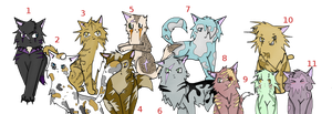 Warriors cats adopt by QueenYami