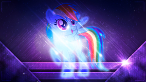 Rainbow Dash in space 1920x1080 by forgotten5p1rit