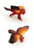 Fire Hawk Dragon - red cute creature by hontor