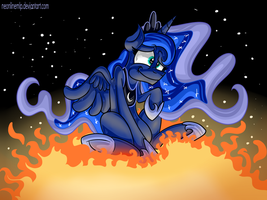 Luna on the sun by Neoncel