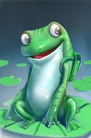 Frog character by Freppechoco