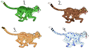 Cheetah Adoptables -OPEN- by LemonOtter