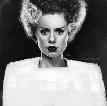 Bride of Frankenstein - Elsa Lanchester by VikingSif