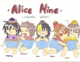 Alice Nine Cupcakes by prince-to-prince