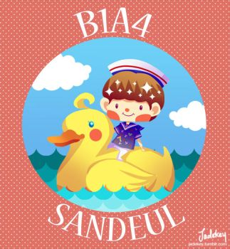 B1A4 Sandeul and Duck by Jadekyy