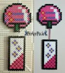 Pink Japanese Wind Chime by PerlerPixie