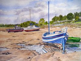 Alnmouth Low Tide, Nothumberland by jeffsmith1955