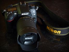 my D7000 with 18-105mm lens by Purple-Dragonfly-Art