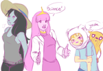Adventure Time sketches by Kaeko-chan