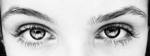 Eyes- Black and White by VLPhotography