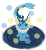 Vaporeon by Tainted-DolL