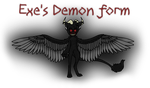 .:Dark Realm AU:.:Exe's Demon Form:. by Xbox-DS-Gameboy