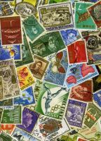 Mixed postage stamp stock by rustymermaid-stock