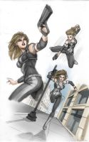 X-Girl -Realistic action poses by Elisa-Feliz