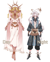 Day and Night Deities Adoptables [CLOSED] by Kaiet