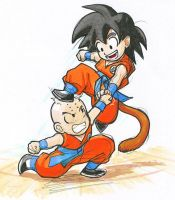 DB: Goku and Kuririn by Risachantag