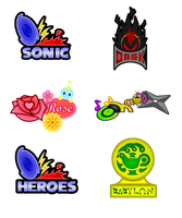Sonic Team Emblems by Sycotei-B
