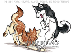 Husky And Toboe Commission by WildSpiritWolf