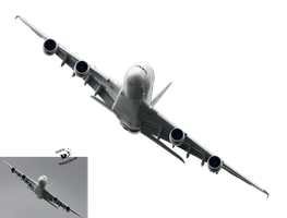 Cut-out 77 - flying airliner by Momotte2stocks