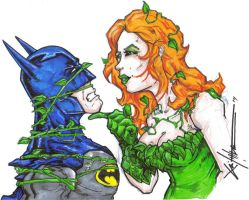 Batman and Poison Ivy by ChrisOzFulton