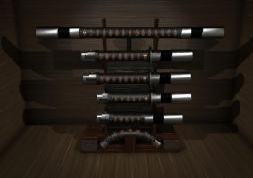 Jaecyn Riddick's Saber Display Case by ChrisNs