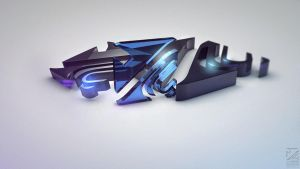 My new 3D logo by DWXak