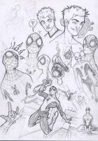 SpidermanSketches2-year2004 by DenisM79