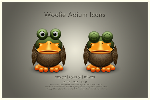 Woofie Adium Icons by SoundForge