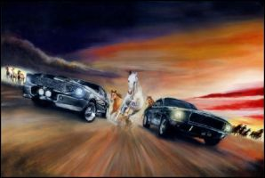 Gone in 60 Seconds/Bullit Original Painting by solman1