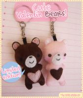 Cute Valentin Bears by Oni-chu