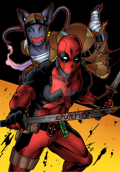 Commission: Deadpool and Wixl for LawlPool by BleedingHeartworks
