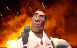 Medic survived dat explosion by SuperBomb-Omb