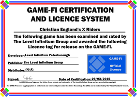 X Riders Game-Fi Certificate by LevelInfinitum