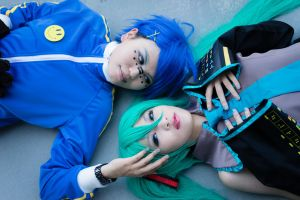 Cosplay-VOCALOID Miku by DeluCat