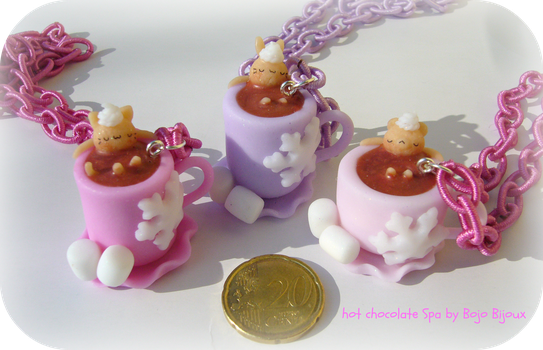 Hot chocolate Spa Necklaces by Bojo-Bijoux