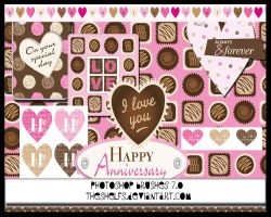 Heart and sweets brushes by Theshelfs