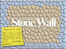 PS TUTORIAL :: Stone Wall by MrRookie