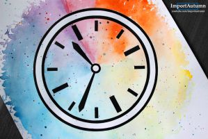 InkTober Day 19 - Watercolour Clock! [Speed-paint] by ImportAutumn