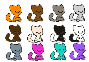 Chibi Cat Adopts! (open) by mermaidgirl013