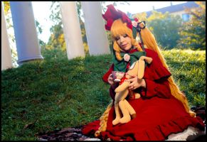 Rozen Maiden - Shinku and tea by Calssara