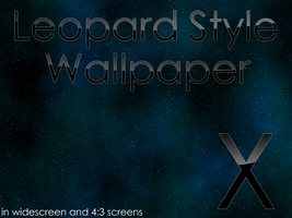 Leopard style Space wallpaper. by SL05NED