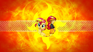 FiM: Sunset Shimmer Wallpaper by M24Designs