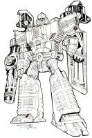 Classics Megatron inked by AcidWing