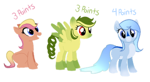 cheap pony adoptables! by bluesugarplum